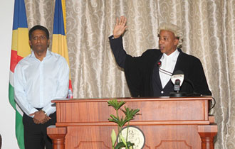 His Worship Brassel Adeline sworn-in as Master of the Supreme Court