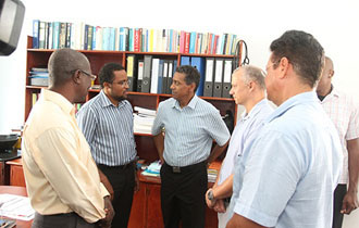President Faure visits the Seychelles Hospital