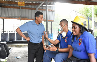 President visits the SPTC Depot