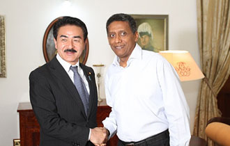President Faure receives the State Minister for Foreign Affairs of Japan