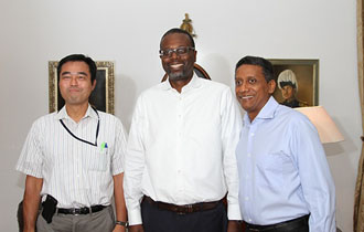 Seychelles President meets with IMF Advisor and Mission Chief for Seychelles