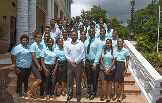 President Faure receives the 15th cohort of the Seychelles National Youth Assembly