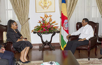 President Faure receives High Commissioner of the Republic of South Africa