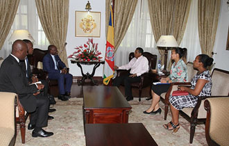 President Faure receives delegation from NGOs AFFEED and Ascension