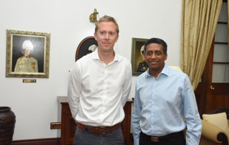President receives new Chairman of Seychelles Breweries