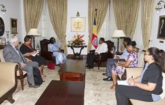 President Faure receives International Federation of the Red Cross (IFRC) Regional Director for Africa