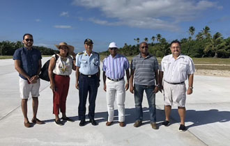 President Faure visits Providence Island