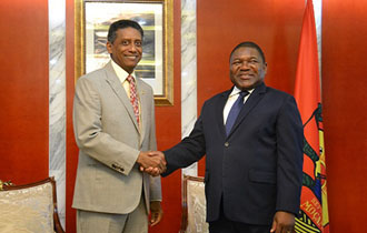 President Faure holds talks with President of Mozambique