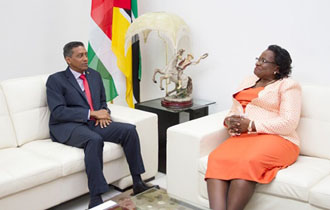 President meets Speaker of National Assembly in Mozambique
